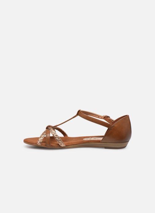 Sandales et nu-pieds Tamaris Carthame Marron vue face