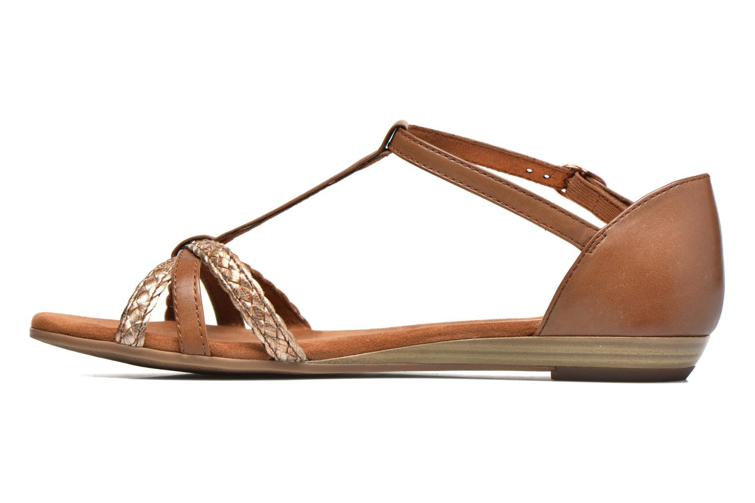 Sandals Tamaris Carthame Brown front view