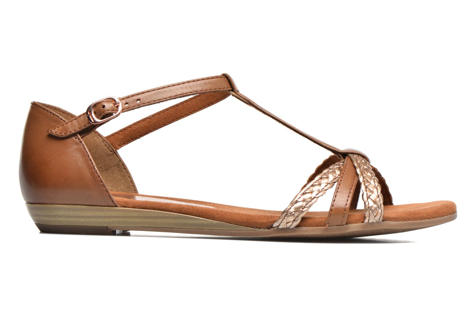 Sandals Tamaris Carthame Brown back view
