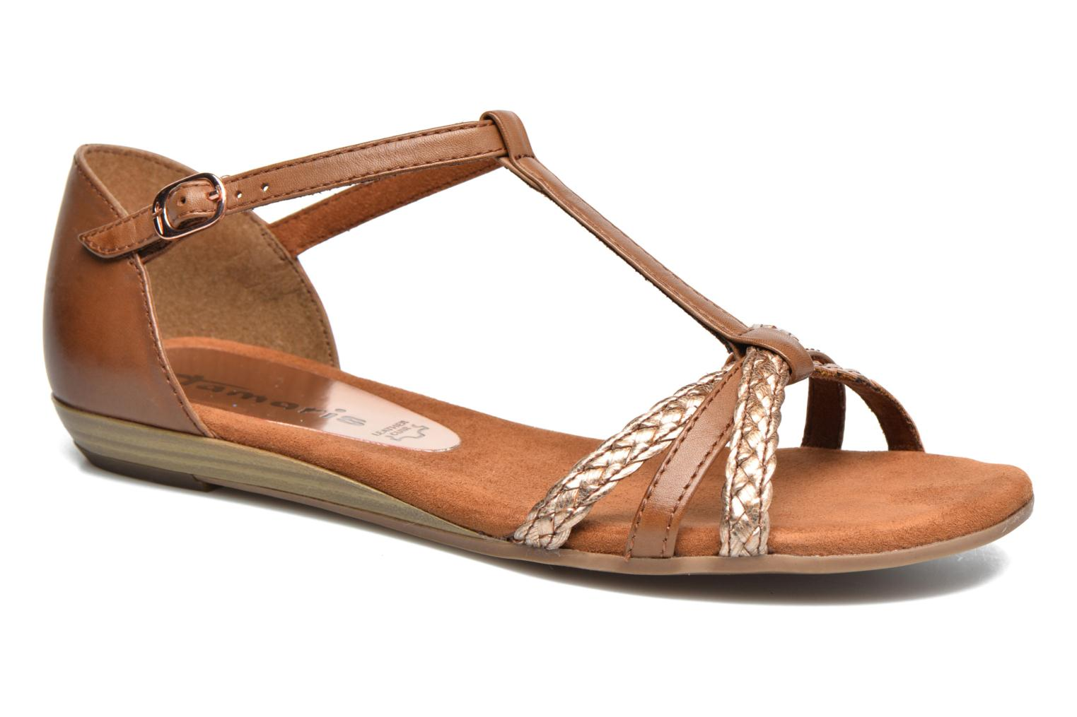 Sandals Tamaris Carthame Brown detailed view/ Pair view