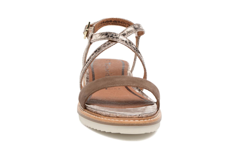Sandales et nu-pieds Tamaris Stellaire Marron vue portées chaussures