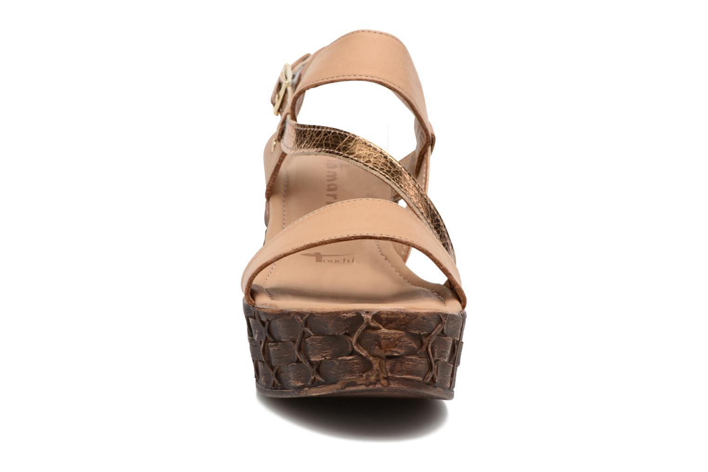 Sandales et nu-pieds Tamaris Lamier Beige vue portées chaussures