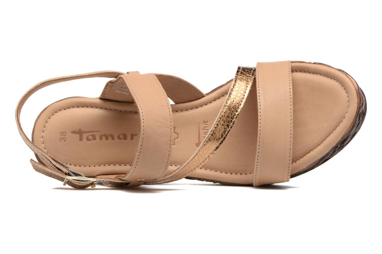 Sandales et nu-pieds Tamaris Lamier Beige vue gauche