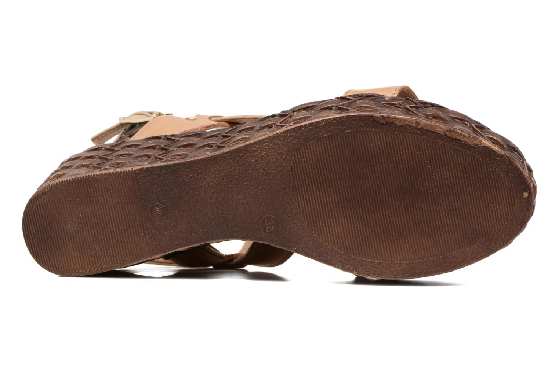 Sandales et nu-pieds Tamaris Lamier Beige vue haut