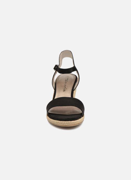 Sandales et nu-pieds Tamaris Nepeta Noir vue portées chaussures