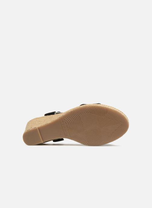Sandales et nu-pieds Tamaris Nepeta Noir vue haut