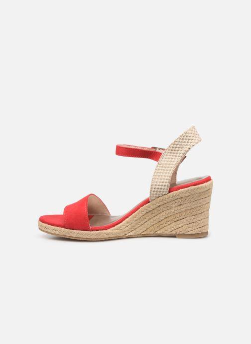 Sandales et nu-pieds Tamaris Nepeta Rouge vue face