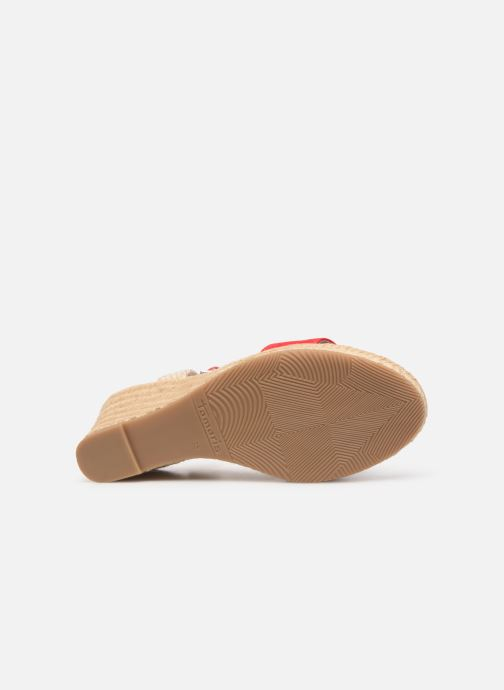 Sandales et nu-pieds Tamaris Nepeta Rouge vue haut