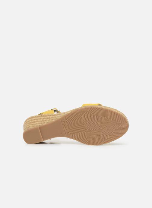 Sandales et nu-pieds Tamaris Nepeta Jaune vue haut