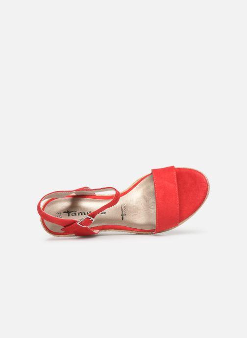 Sandales et nu-pieds Tamaris Nepeta Rouge vue gauche