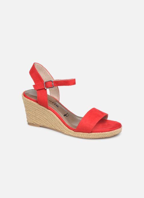 Sandales et nu-pieds Tamaris Nepeta Rouge vue détail/paire