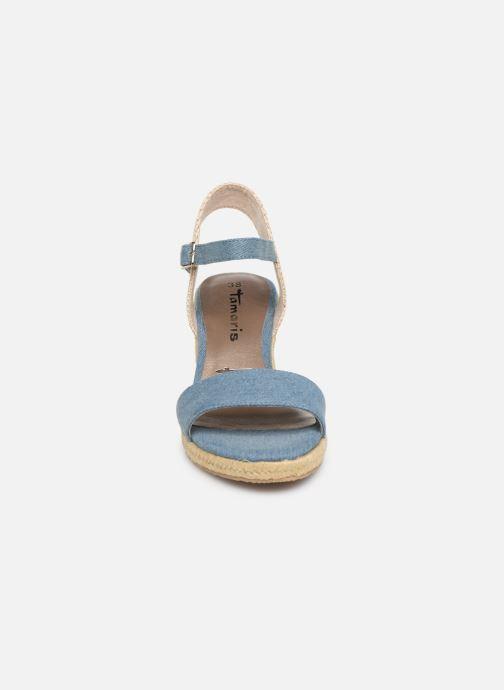 Sandales et nu-pieds Tamaris Nepeta Bleu vue portées chaussures