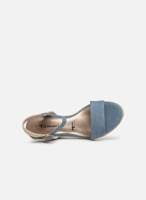 Sandales et nu-pieds Tamaris Nepeta Bleu vue gauche