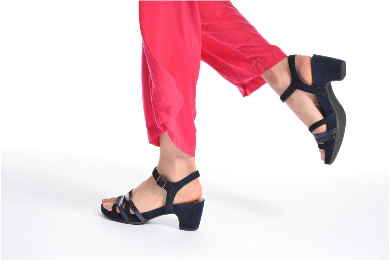 Sandales et nu-pieds Tamaris Euphorbe Bleu vue bas / vue portée sac