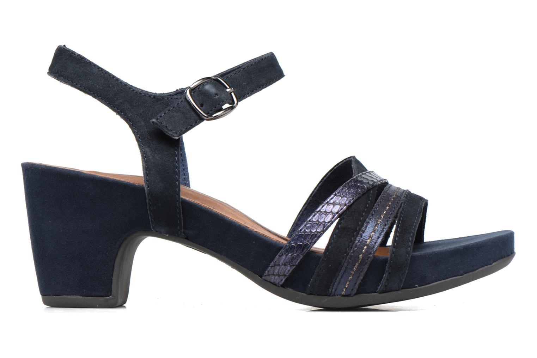 Sandales et nu-pieds Tamaris Euphorbe Bleu vue derrière