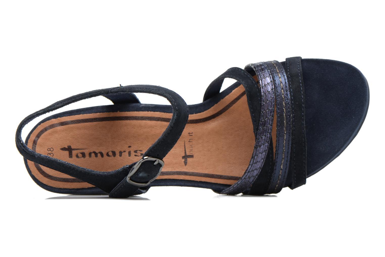 Sandales et nu-pieds Tamaris Euphorbe Bleu vue gauche