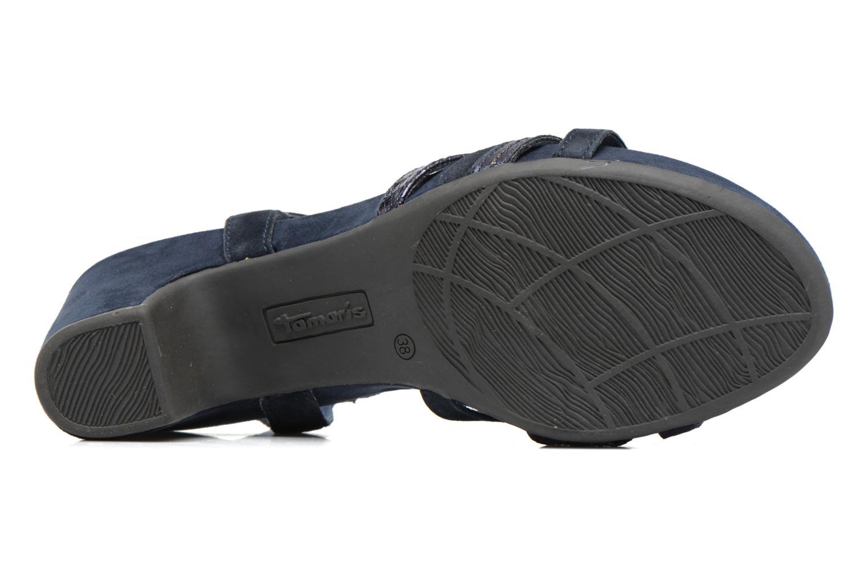 Sandales et nu-pieds Tamaris Euphorbe Bleu vue haut
