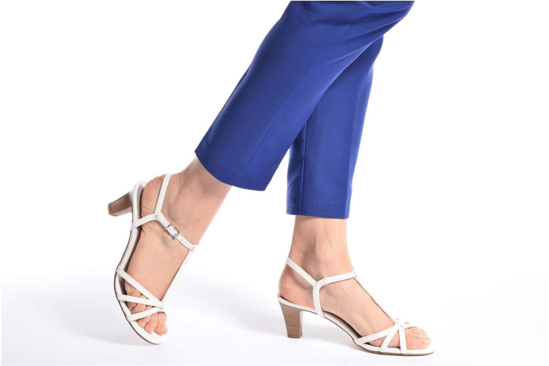 Sandales et nu-pieds Tamaris Carline Blanc vue bas / vue portée sac