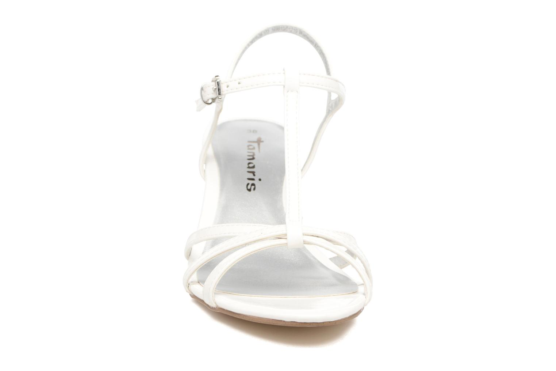 Sandales et nu-pieds Tamaris Carline Blanc vue portées chaussures