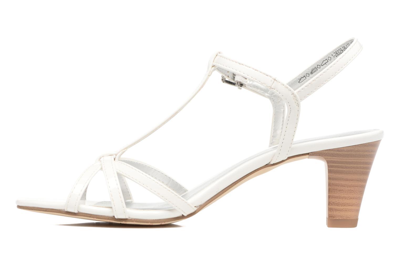 Sandales et nu-pieds Tamaris Carline Blanc vue face