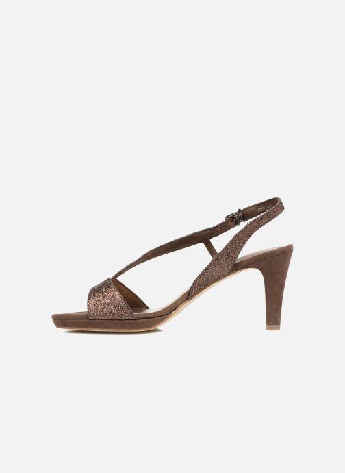 High heels Tamaris Ammy Bronze and Gold front view