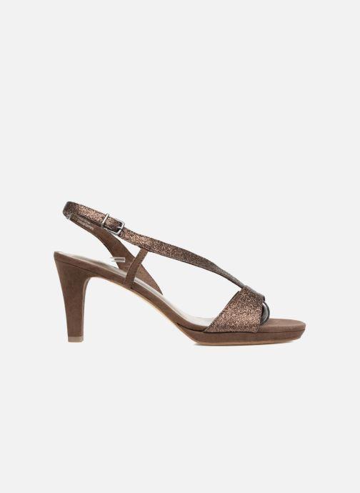 High heels Tamaris Ammy Bronze and Gold back view