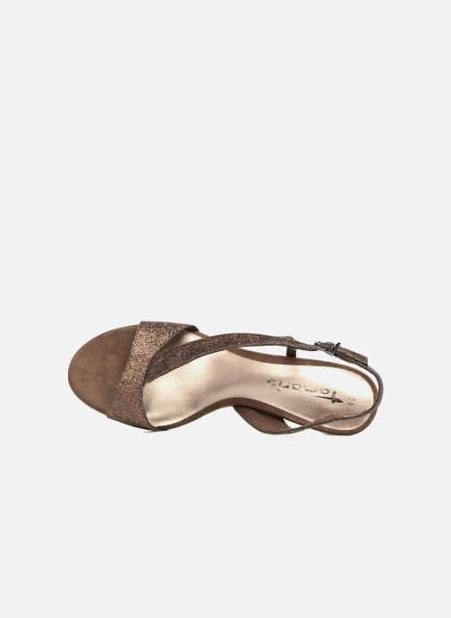 High heels Tamaris Ammy Bronze and Gold view from the left