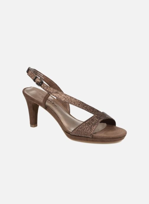 High heels Tamaris Ammy Bronze and Gold detailed view/ Pair view