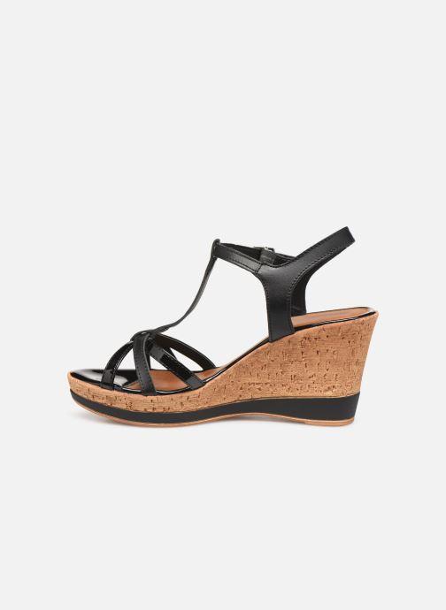 Sandales et nu-pieds Tamaris Aunée Noir vue face