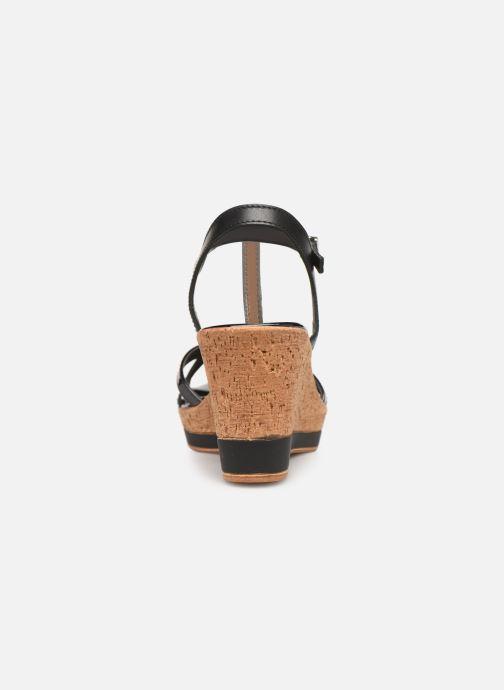 Sandales et nu-pieds Tamaris Aunée Noir vue droite