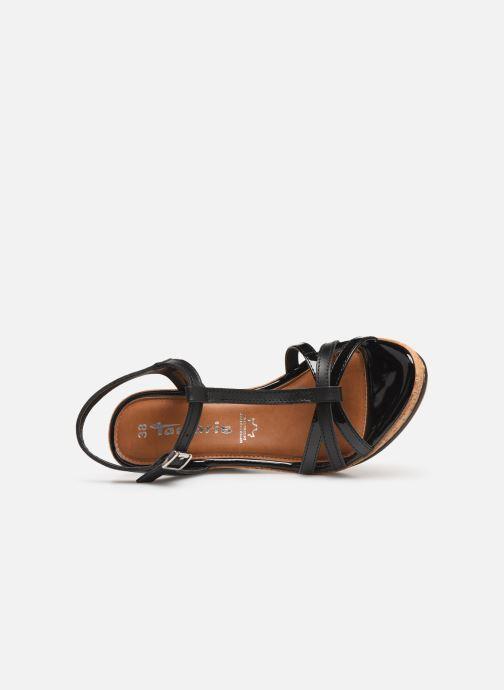 Sandales et nu-pieds Tamaris Aunée Noir vue gauche