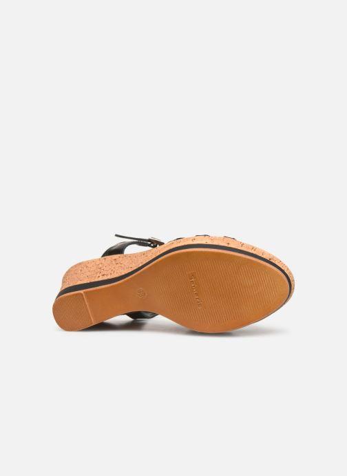 Sandales et nu-pieds Tamaris Aunée Noir vue haut