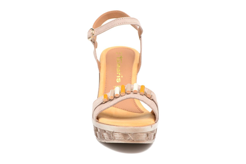 Sandales et nu-pieds Tamaris Kiwai Beige vue portées chaussures
