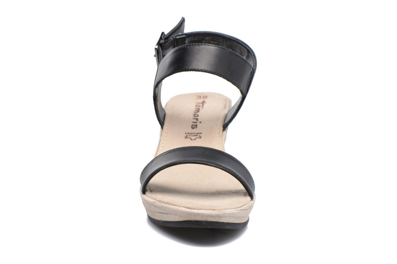 Sandales et nu-pieds Tamaris Khat Noir vue portées chaussures