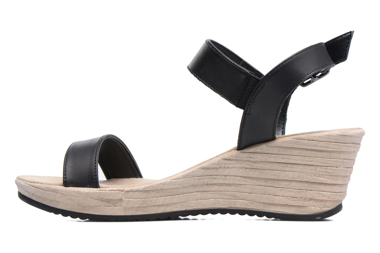 Sandales et nu-pieds Tamaris Khat Noir vue face