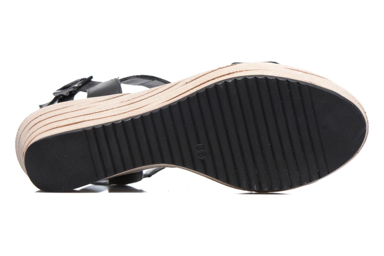 Sandales et nu-pieds Tamaris Khat Noir vue haut
