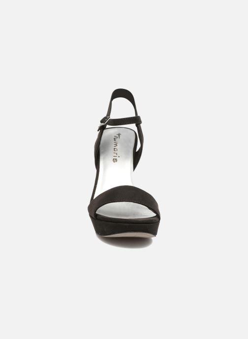 Sandales et nu-pieds Tamaris Hysope Noir vue portées chaussures