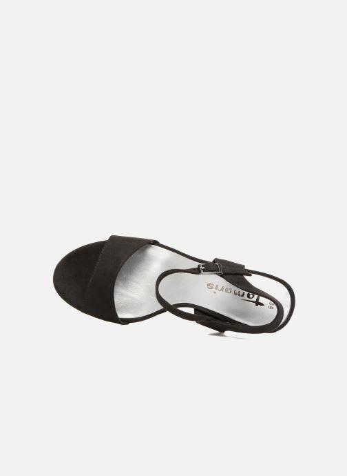Sandales et nu-pieds Tamaris Hysope Noir vue gauche