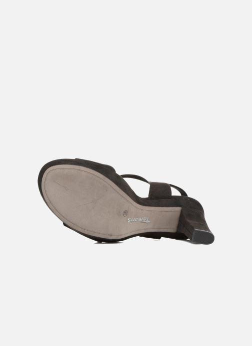 Sandales et nu-pieds Tamaris Hysope Noir vue haut
