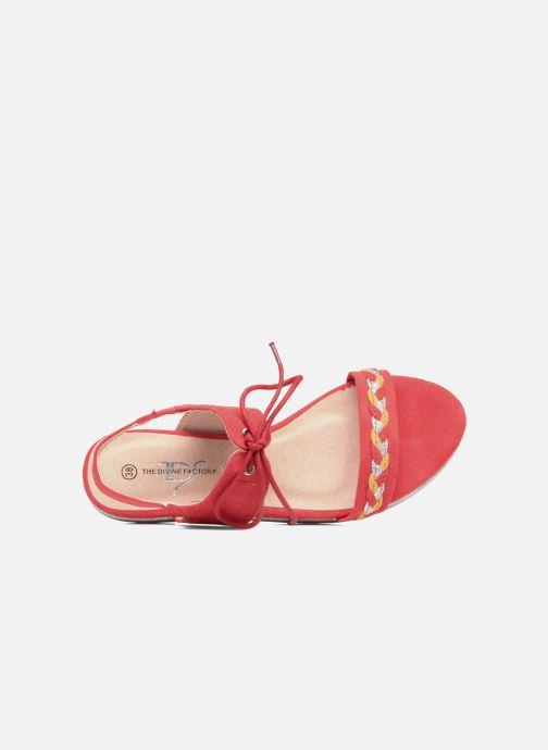 Sandales et nu-pieds Divine Factory Oko Orange vue gauche