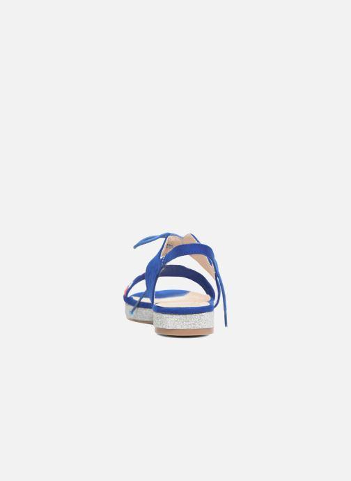 Sandalen Divine Factory Oko blau ansicht von rechts