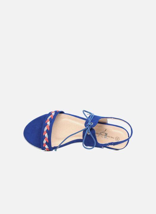 Sandalen Divine Factory Oko blau ansicht von links