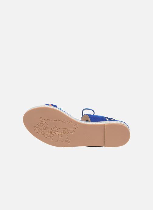 Sandalen Divine Factory Oko blau ansicht von oben
