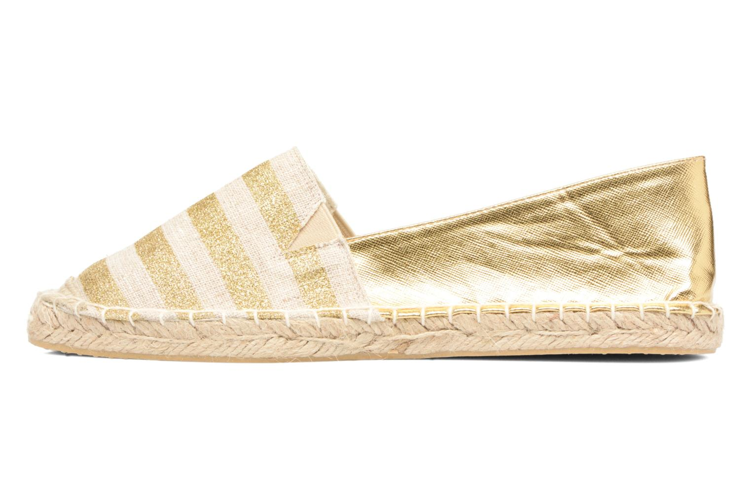 Espadrilles Divine Factory Uny Bronze and Gold front view