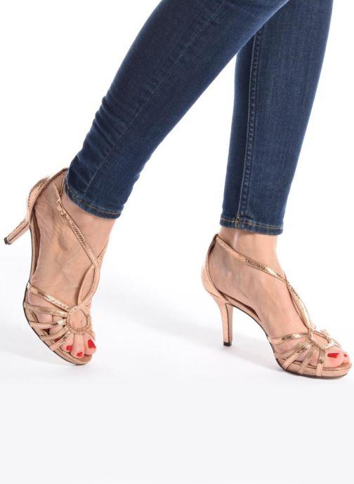 Sandales et nu-pieds Menbur TIFLIS Or et bronze vue bas / vue portée sac