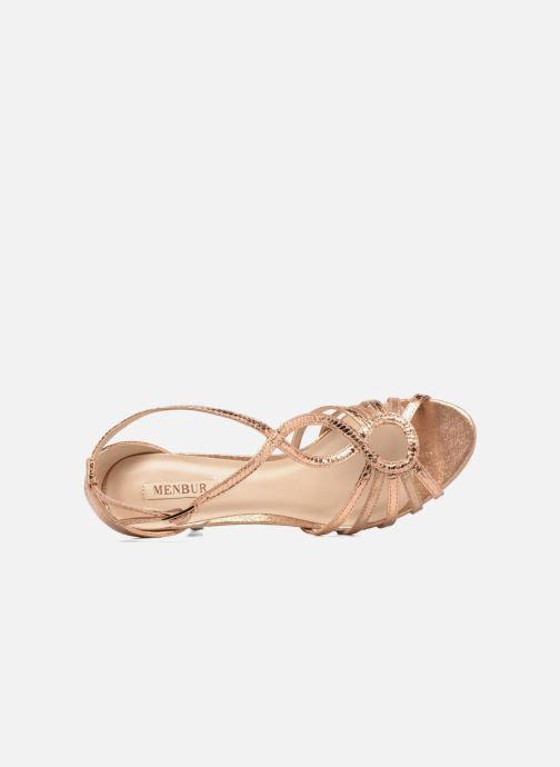 Sandales et nu-pieds Menbur TIFLIS Or et bronze vue gauche
