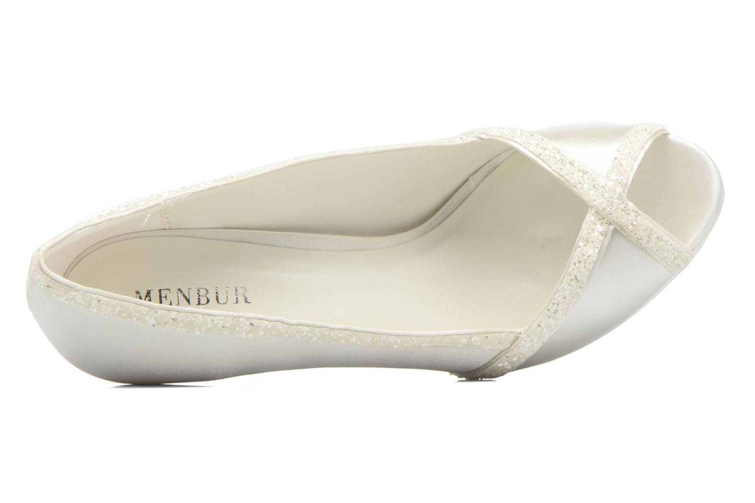 High heels Menbur ALMUDENA White view from the left