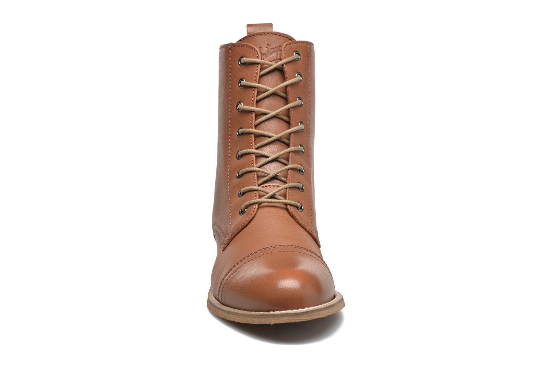 Bottines et boots Ippon Vintage Denim Road Marron vue portées chaussures