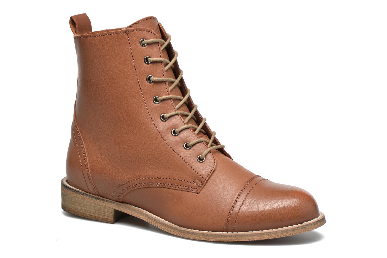 Bottines et boots Ippon Vintage Denim Road Marron vue détail/paire