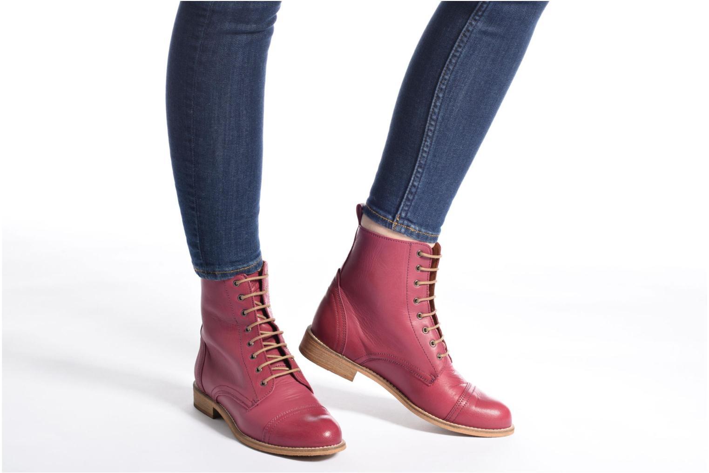 Stiefeletten & Boots Ippon Vintage Denim Road weinrot ansicht von unten / tasche getragen